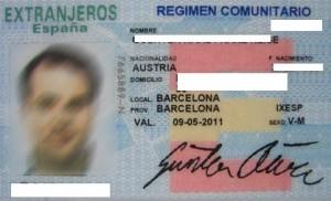tarjeta residencia