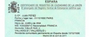 certificado registro