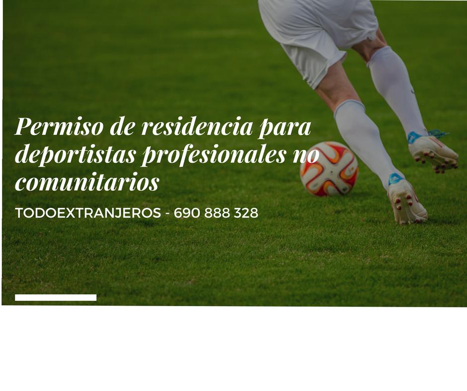 Residencia para deportistas no comunitarios